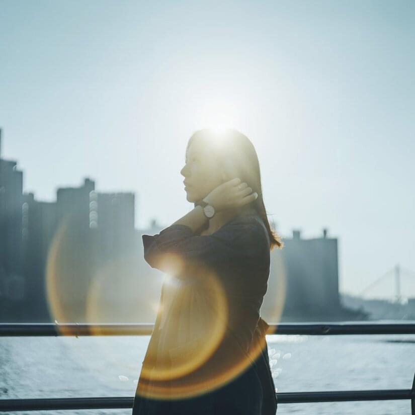 Kvinna i sol